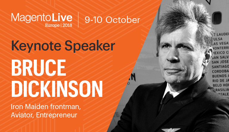 Bruce Dickinson Is The Magento Live Europe 2018 Keynote Speaker Magento
