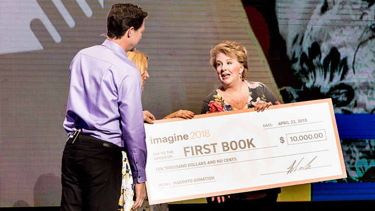 magento: Magento celebrates #WorldBookDay at #MagentoImagine with @FirstBook https://t.co/fhMKfgNp9W https://t.co/NVJhU6cnPX