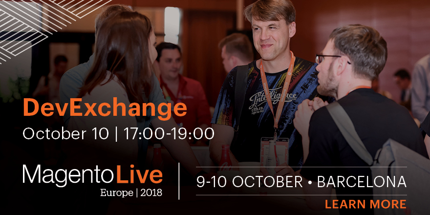 DevExchange at MagentoLive Europe 2018 | Learn More
