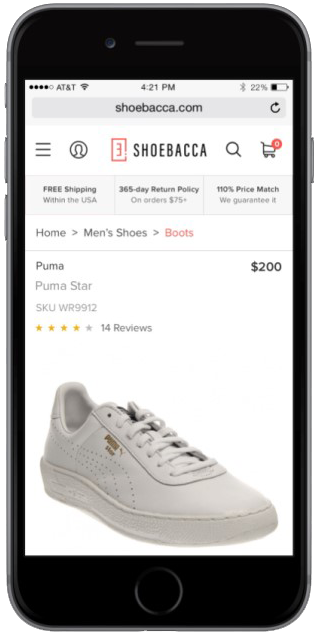 SHOEBACCA focus on mobile | Kensium | Magento Blog