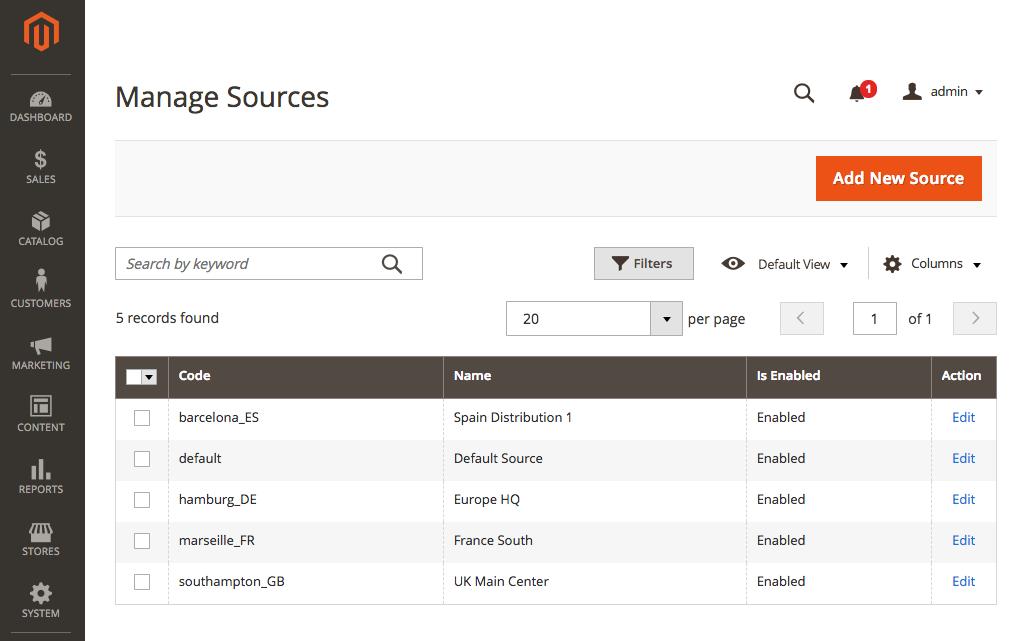 Multi-source Inventory - Novidades do Magento 2.3