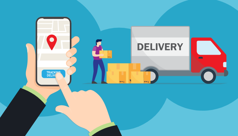 Mobile Commerce - Delivery Graphic