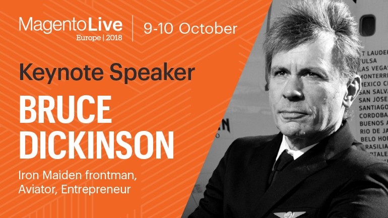 Bruce Dickinson of Iron Maiden at MagentoLive Europe 2018 | Magento Blog