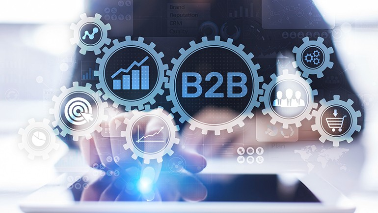 B2B Buyers Journey person using tablet