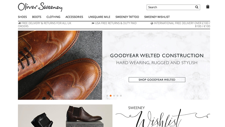 Sell Shoes Online - Oliver Sweeney Footwear