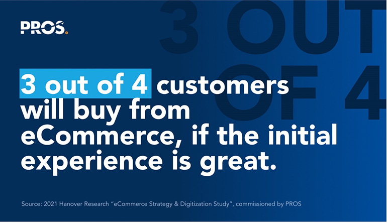 3 out of 4 customers will buy from eCommerce